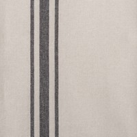 Chambray Table Runner with Black Stripes