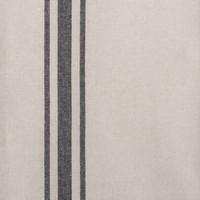 Chemin de table chambray à rayures noires