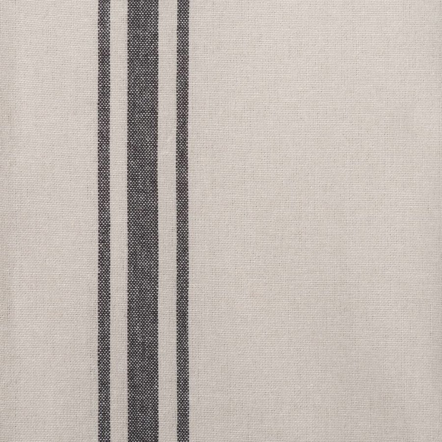 Chambray Table Runner with Black Stripes - Photo 1
