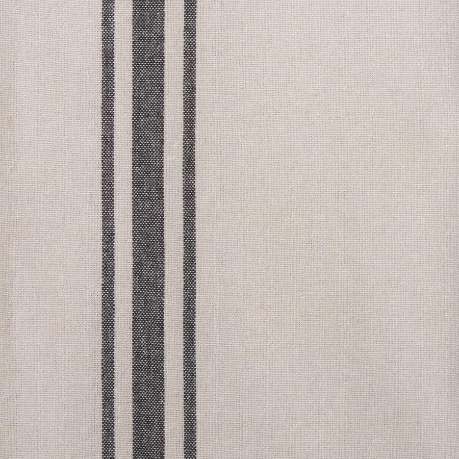 Chemin de table chambray à rayures noires - Photo 1