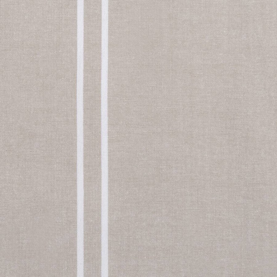 Chemin de table beige à rayures blanches - Photo 1