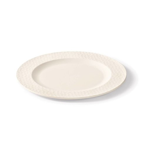 Chalk White Bamboo Plate