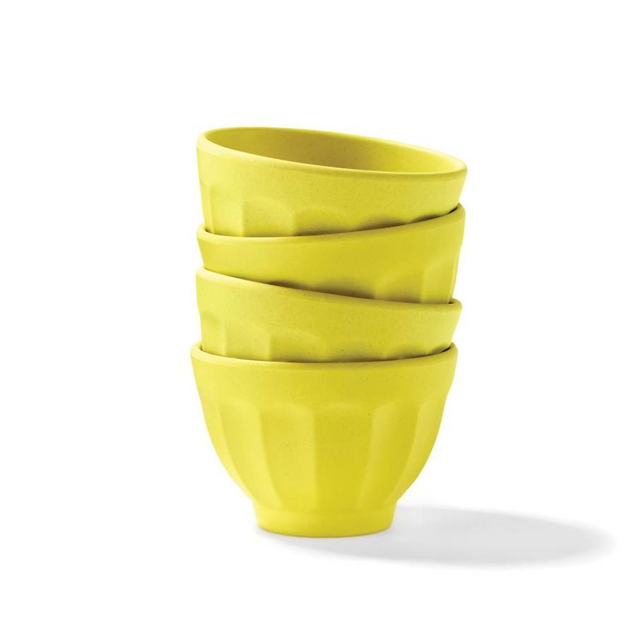 Bols à dessert jaune citron en bambou - Photo 0