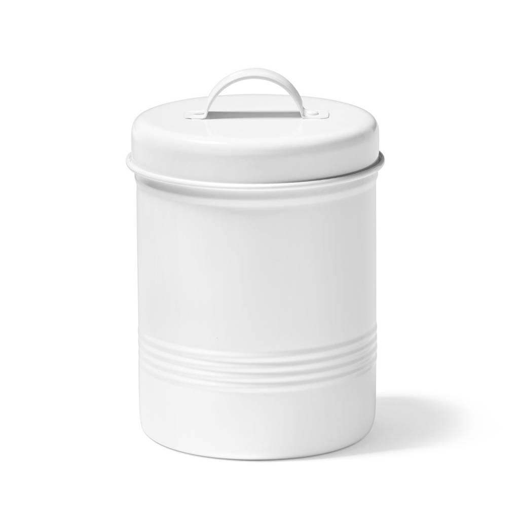 Contenant pour aliments blanc en m tal de 3 litres for Tablier de cuisine ricardo