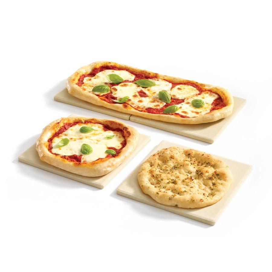 Set of 4 Square Pizza Stone - Photo 1