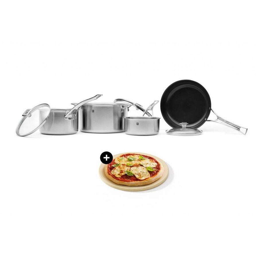 Batterie de cuisine en acier inoxydable 3-plis (7 pièces) - Photo 0