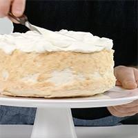 Assiette à gâteau sur pied «Pure»