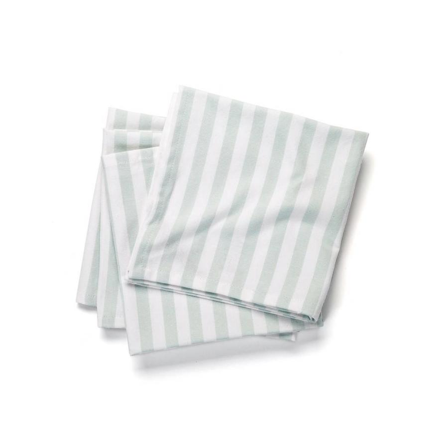 White Table Napkins with Fine Blue Stripes - Photo 0