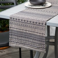 Beige Table Runner with Aztec Print