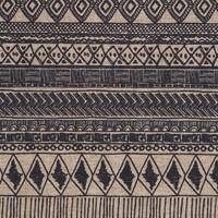Chemin de table beige à motifs aztèques