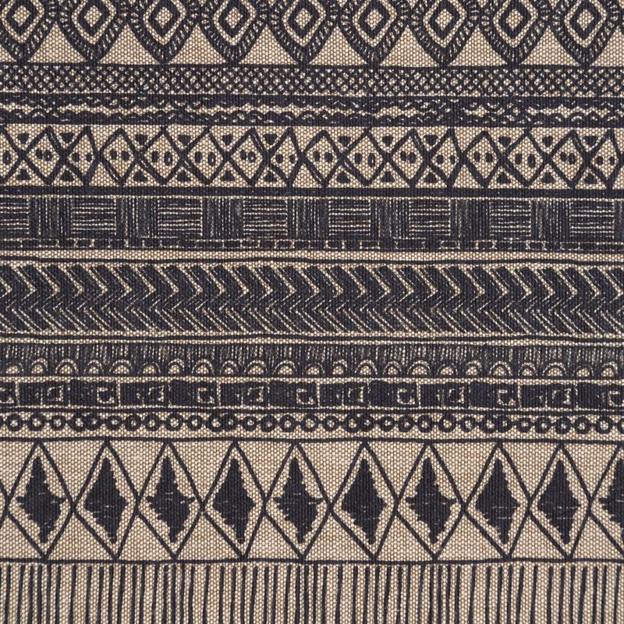 Beige Table Runner with Aztec Print - Photo 1