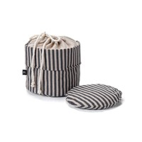 Bag for Warm Bread in Black and Chambray Stripes