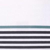 Chemin de table blanc à franges et à rayures