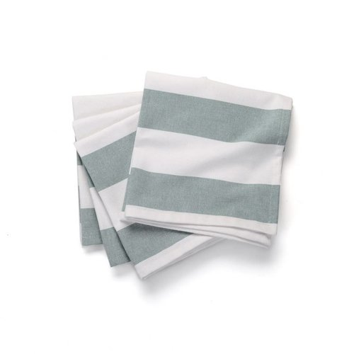 Table Napkins with Large Blue Stripes