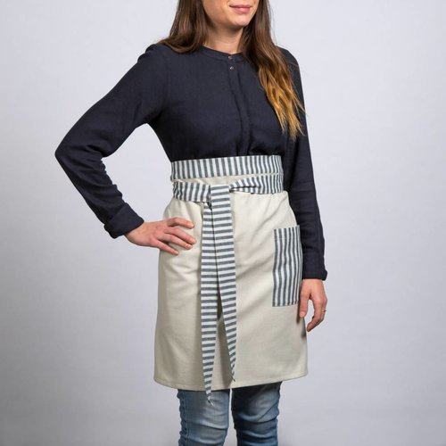 Striped Chambray Half-Apron