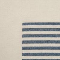Blue Striped Chambray Half-Apron