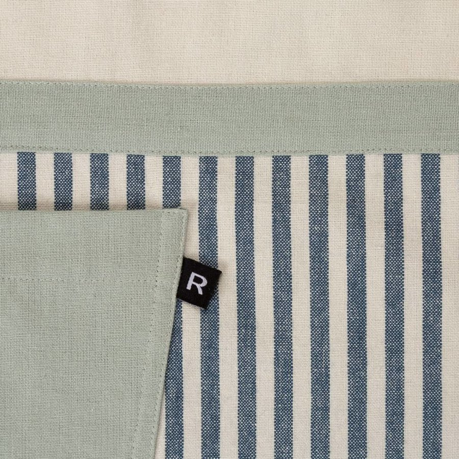 Blue Striped Chambray Apron, Oven Mitt and Pot Holder Set - Photo 3