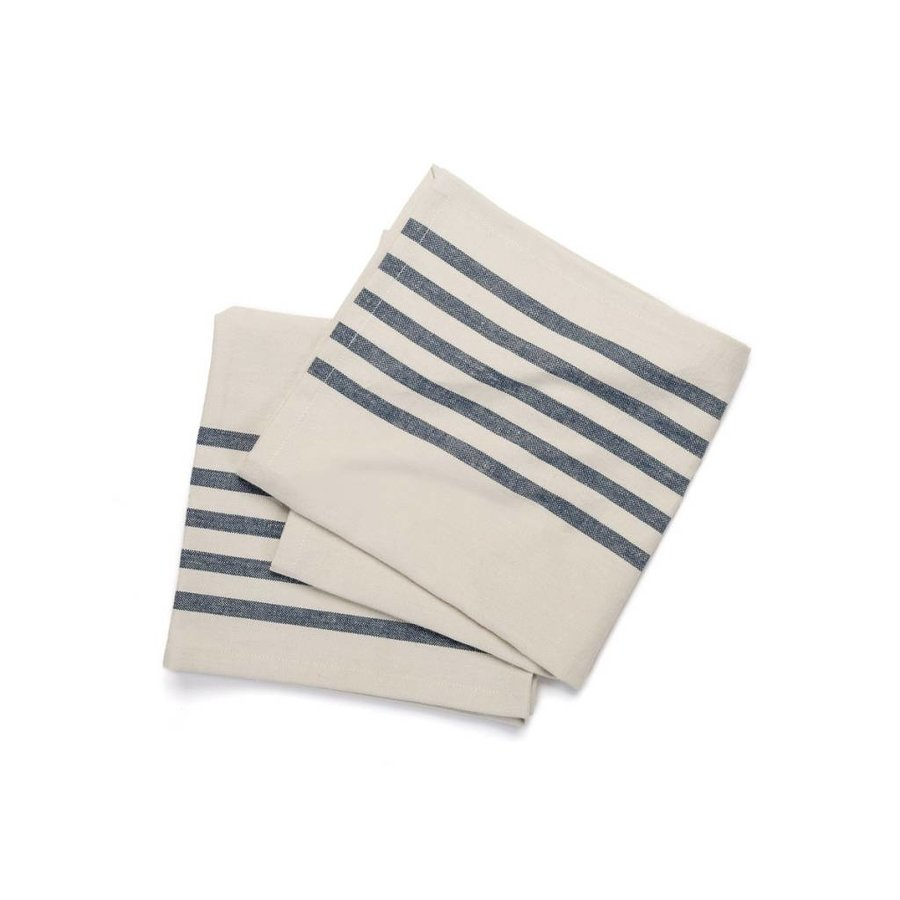 Chambray Napkins with Thin Blue Stripes - Photo 0