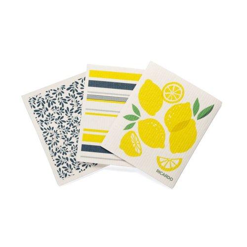 Lemon Fantastic Dishcloths Set