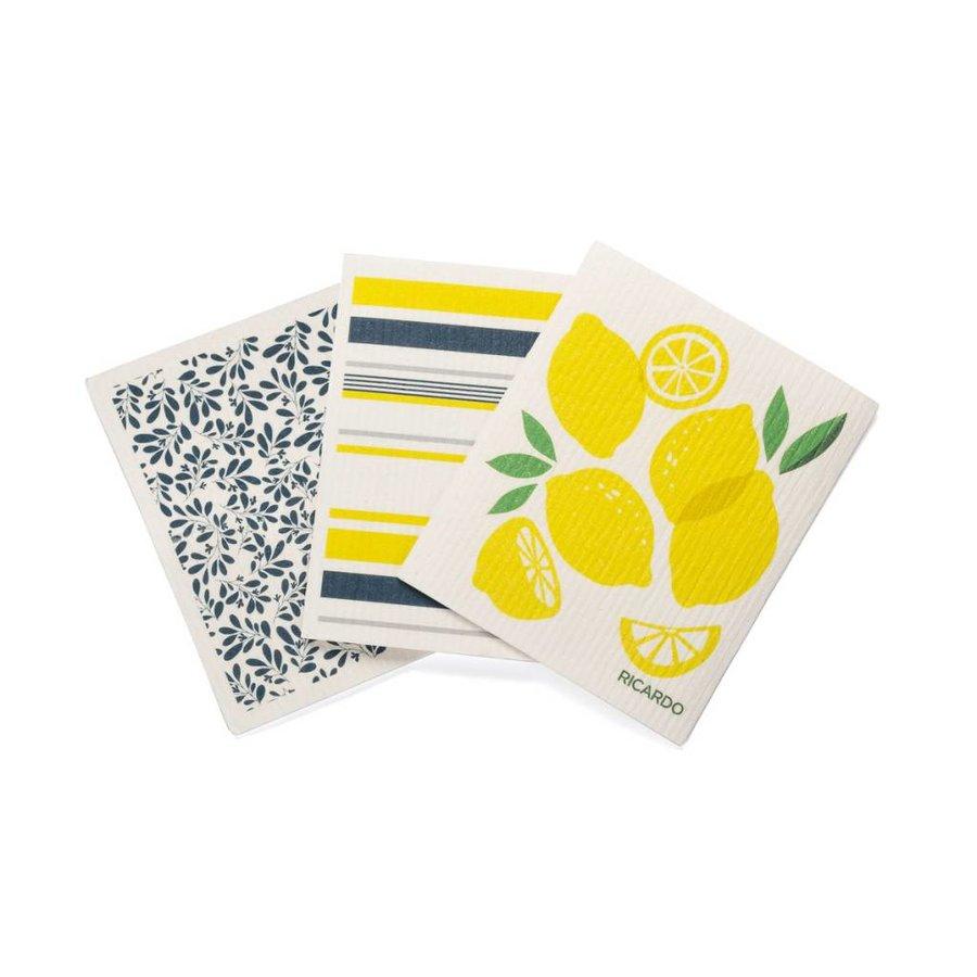 Set of 3 Lemon Fantastic Discloths - Photo 0