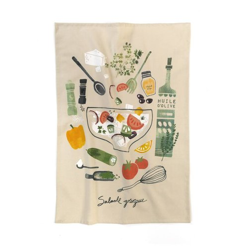 Greek Salad Tea Towel