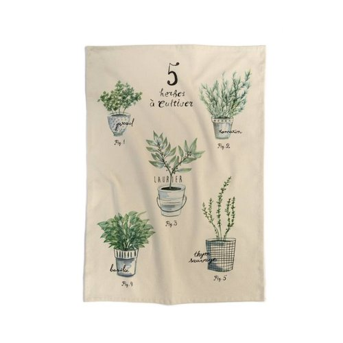 Fine Herbs Tea Towel