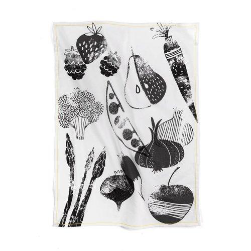 Linge « Fruits et légumes d'été »