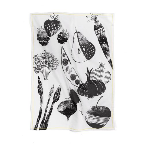 "Tea Towel ""Summer Fruits and Vegetables"""