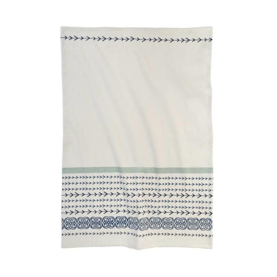 Tea towel with blue arrow stripes - Photo 0