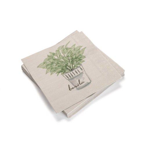 Serviettes de papier « Basilic »