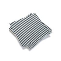 White Paper Napkins with Blue Stripes