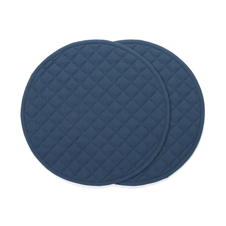 Napperons ronds bleu marine - Photo 0