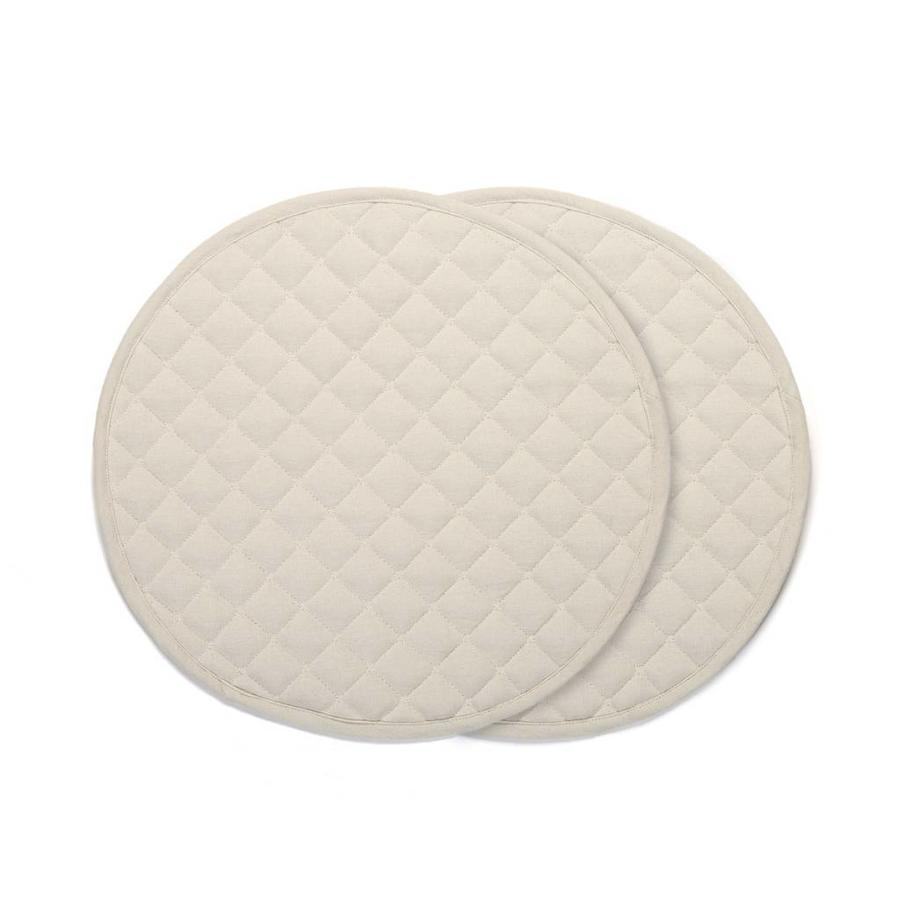 Round Beige Placemats - Photo 0