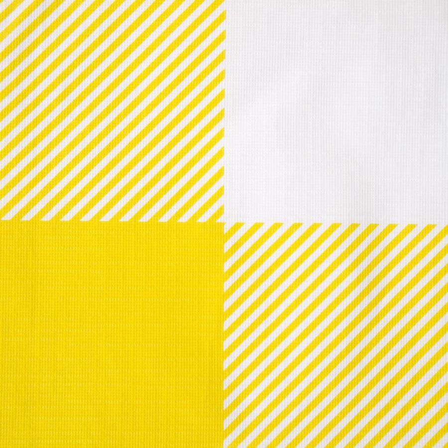 Yellow Checkered Tablecloth - Photo 1