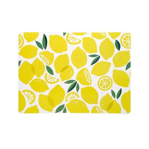 Napperon en plastique à motifs de citron