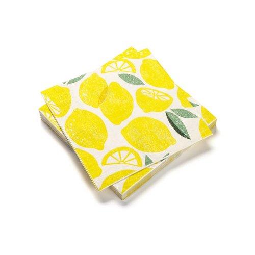Paper Napkins with Lemon Print