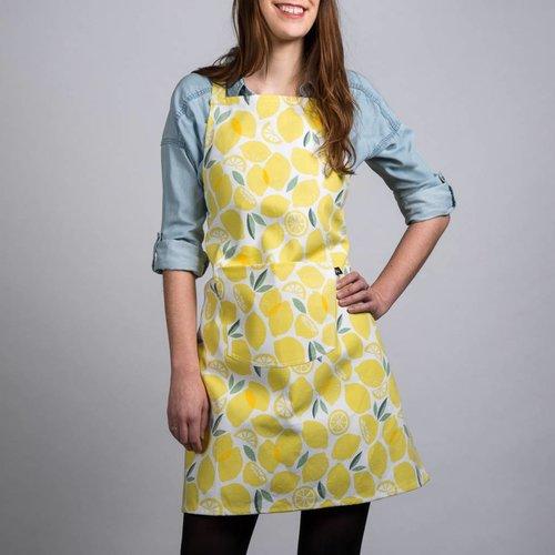 Apron with Lemon Print