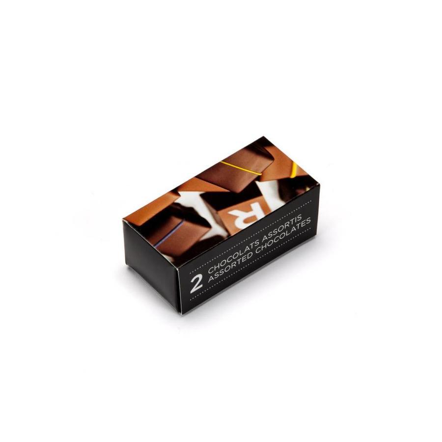 Boîte de chocolats assortis de 2 morceaux - Photo 1