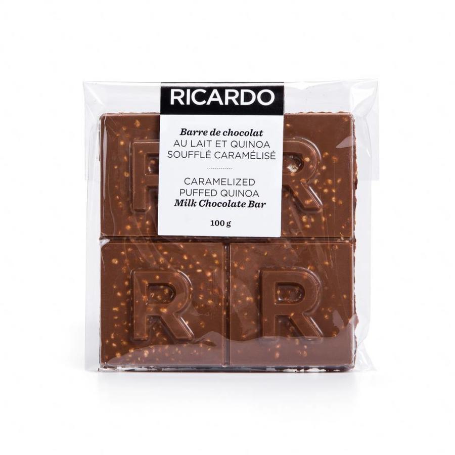 Grande barre de chocolat au lait et quinoa soufflé caramélisé de 100 g - Photo 1
