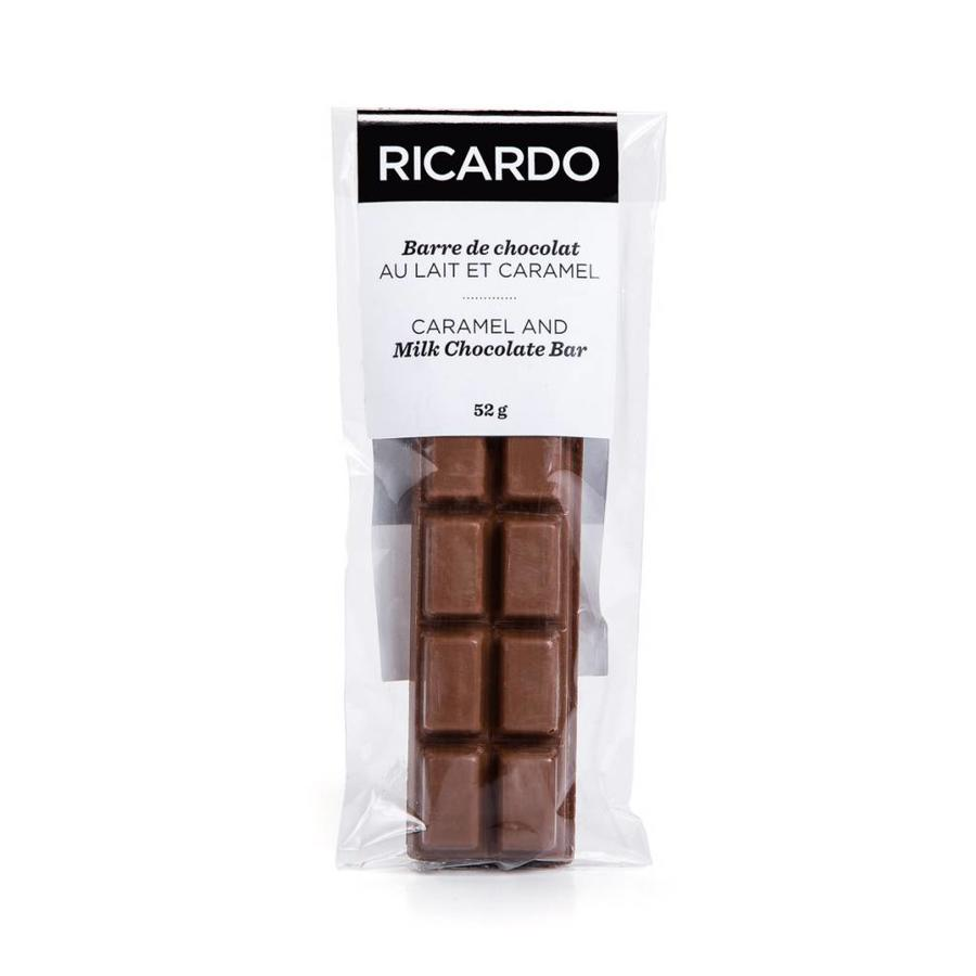 Milk chocolate and caramel bar, 52 g - Photo 1