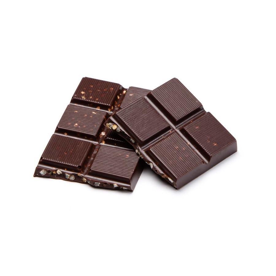 Petite barre de chocolat noir et quinoa soufflé caramélisé de 35 g - Photo 0