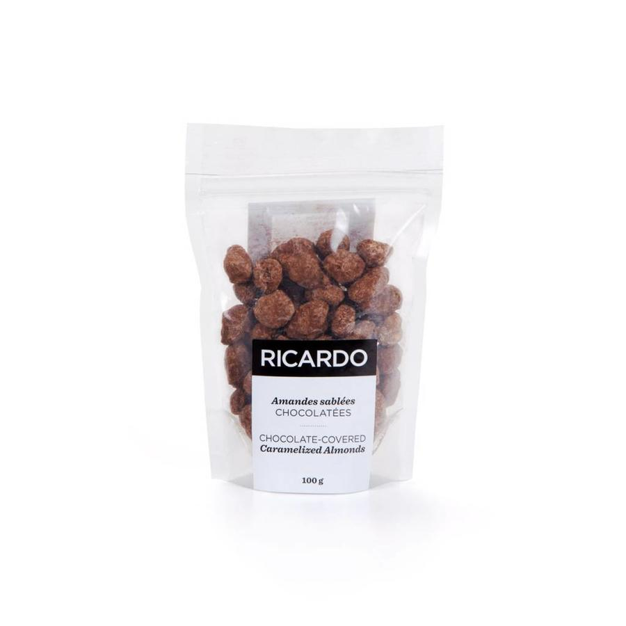 Chocolate-covered caramelized almonds, 100g bag - Photo 0