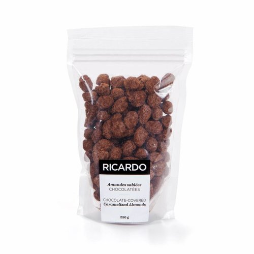 Chocolate-covered caramelized almonds