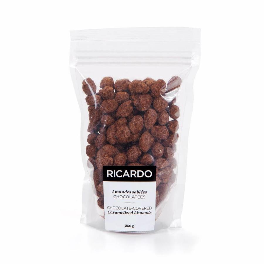 Chocolate-covered caramelized almonds, 250 g bag - Photo 0
