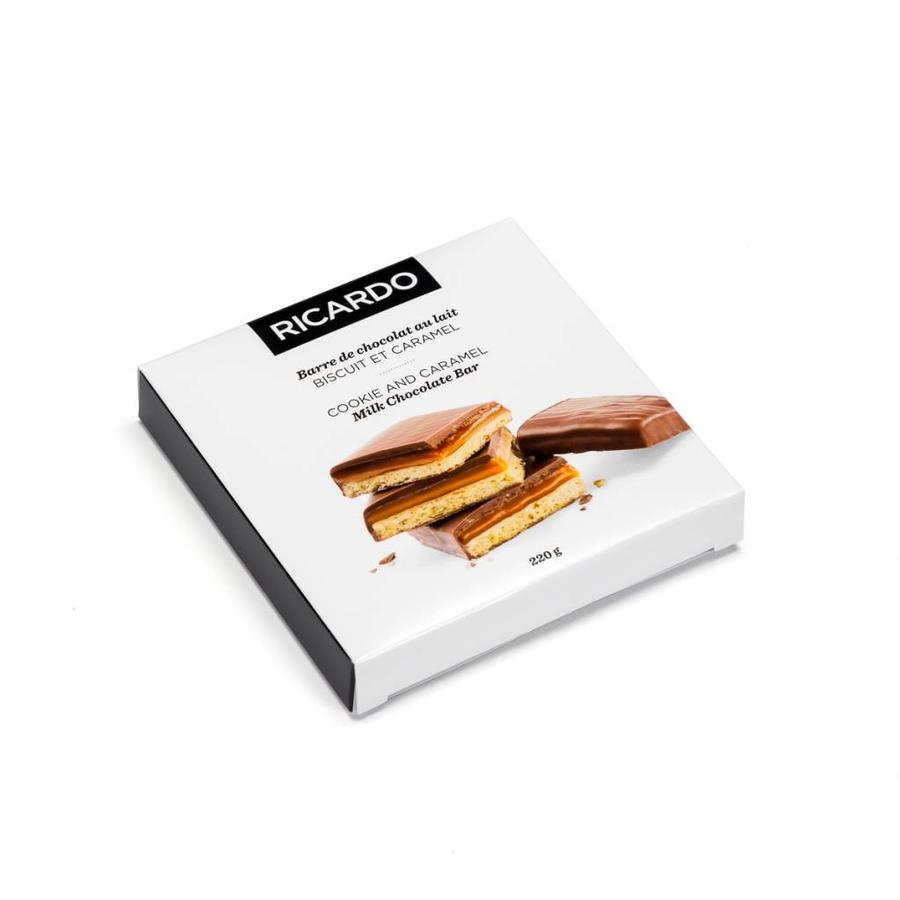 Large milk chocolate cookie bar with caramel, 220 g - Photo 0