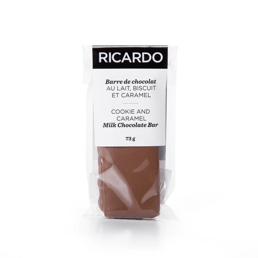 Petite barre de chocolat au lait, biscuit et caramel de 73 g - Photo 0