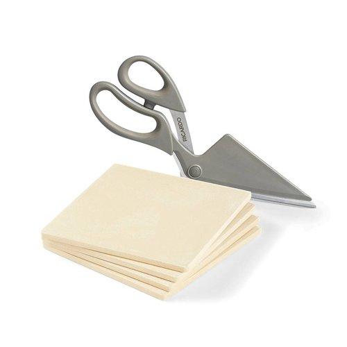 Pizza stones and scissors set