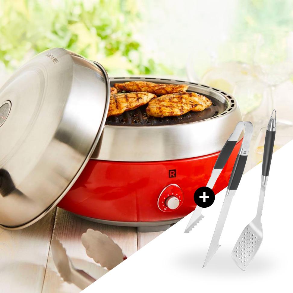 <strong>Achetez un barbecue portable</strong><span>En cadeau : un ensemble d'ustensiles à barbecue</span>