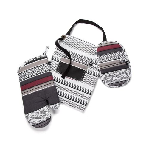 Santa Fe Apron, Oven Mitt and Pot Holder Set