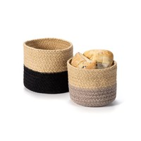 Set of Two Woven Baskets
